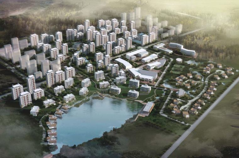 [天津]生态廊道环境改造养老社区概念性景观规划设计