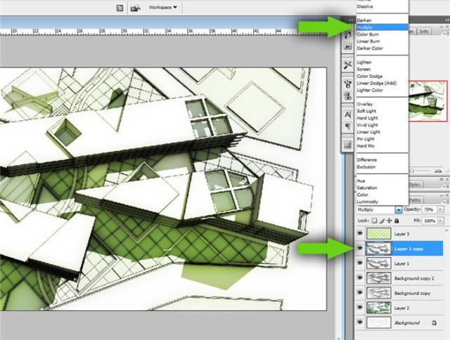 干货 SketchUp+photoshop快速渲染制作建筑景观效果图教程_17