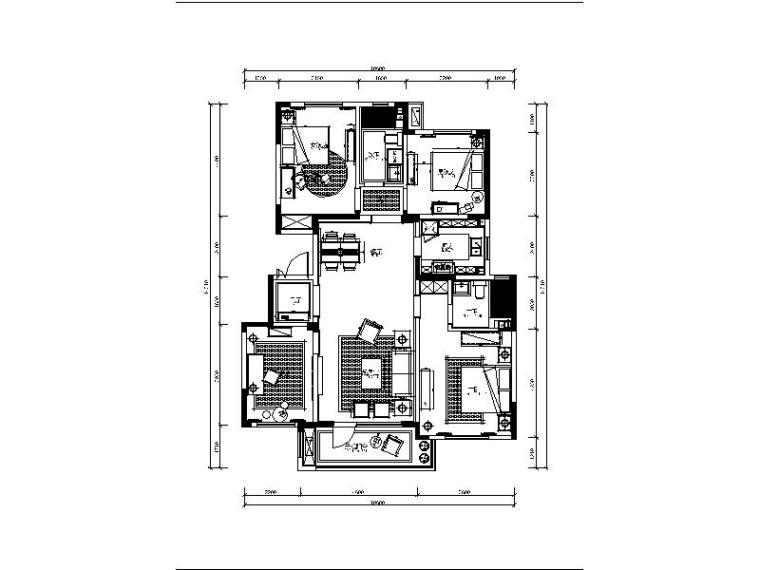 [青岛]法式浪漫精品三居室装修设计施工图(含实景图)