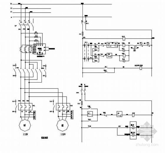 闸门LCU电气原理图