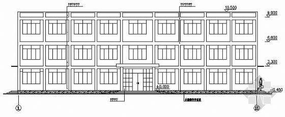 某三层砖混结构办公楼施工图纸