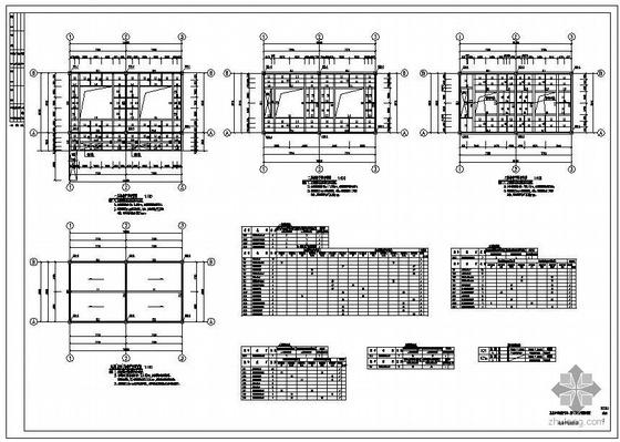 某煤气站维护棚架结构图