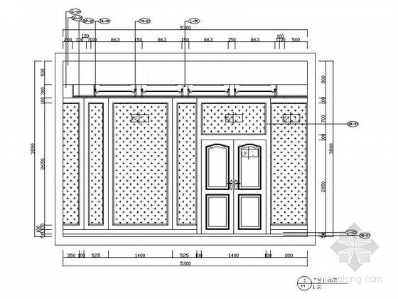 [河北]优雅时尚又艺术的别墅CAD施工图(含效果图)-优雅时尚又艺术的别墅CAD施工图(含效果图)立面图