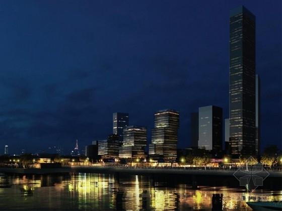 [上海]现代风格核心筒结构多层次办公楼建筑设计方案文本