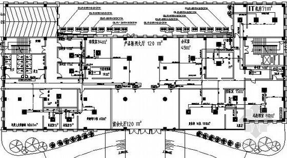 [广东]手机生产基地多联机空调系统平面图