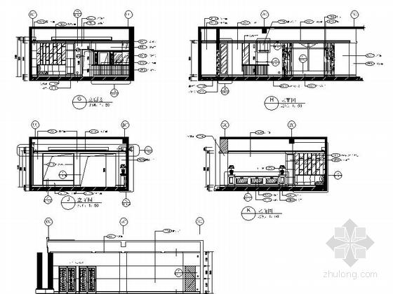 [重庆]豪华低密度住宅区高档休闲会所装修施工图酒吧立面图