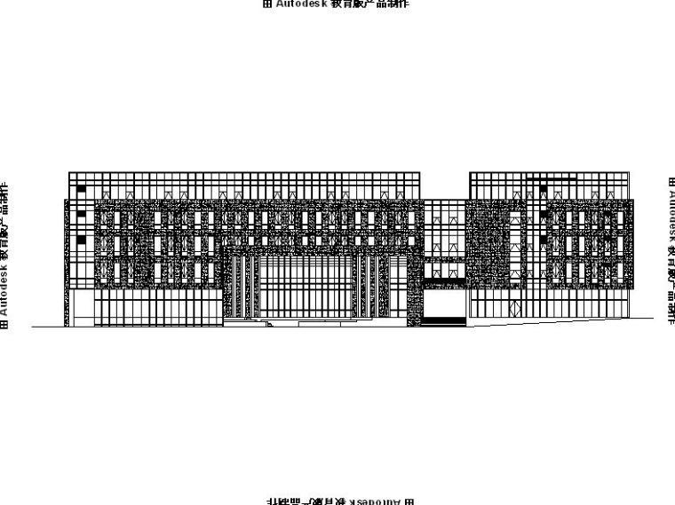 [浙江]五层商务办公楼玻璃及石材幕墙施工图