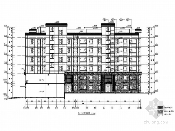 3400平六层(局部七层)带商业网点及配套用房住宅结构施工图(含建筑图)