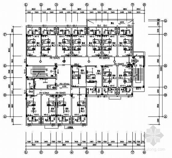 某七层宿舍楼电气图纸