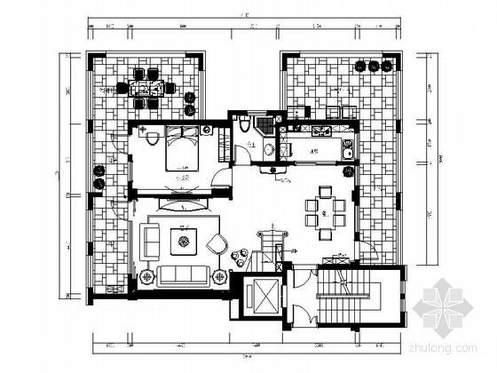 [福州]高端社区三层别墅欧式风格室内设计施工图(含效果图)