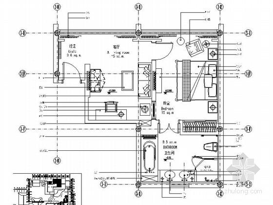 中式会所套房室内装修施工图(含效果)