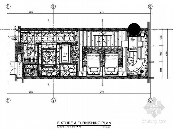 [成都]现代豪华酒店标准双人间室内装修图