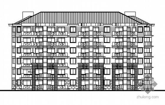 温州某小区六层住宅楼建筑施工图(2#楼)