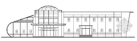 某二层售楼处建筑方案图