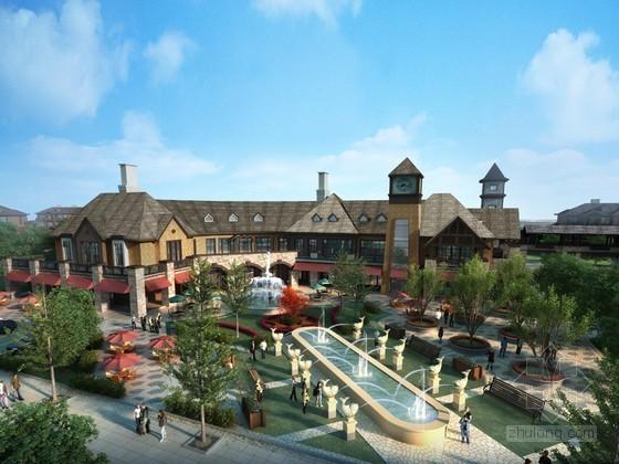 古典商业建筑景观3D模型下载