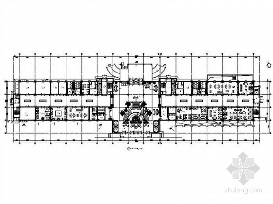 [内蒙古]某豪华民族风格酒店公共空间室内装修施工图(含效果)
