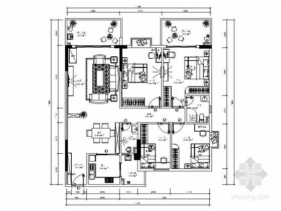[广东]原创简欧风格四室两厅装修图(含效果)