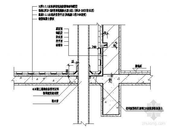 阳台落水管构造