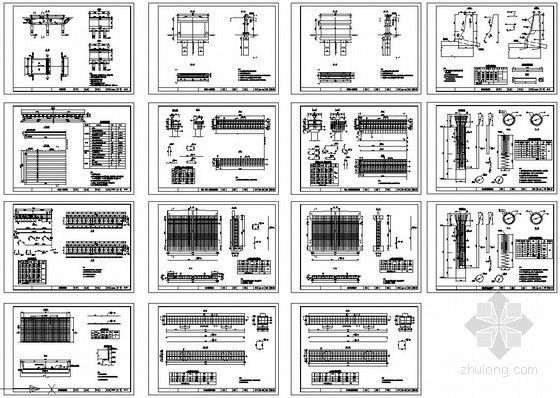 常规桥梁构造和钢筋cad设计图纸