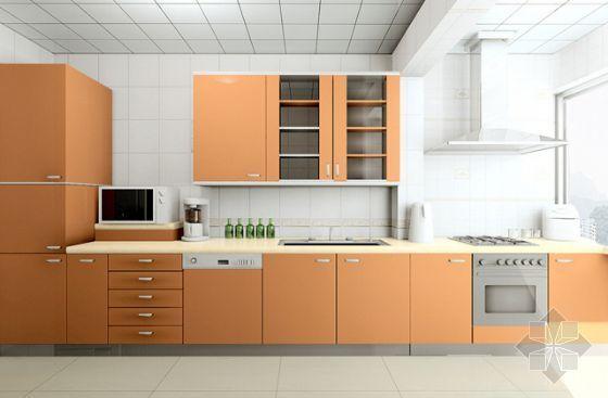 u型厨房橱柜效果图资料下载-一套家装效果图厨房