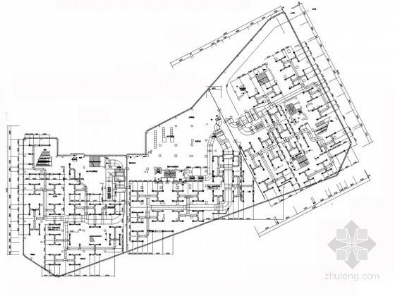 [重庆]高层住宅综合楼空调系统及通风排烟设计施工图(含负荷计算)