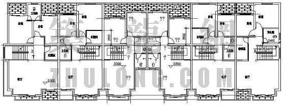 某联体别墅建筑平面设计方案