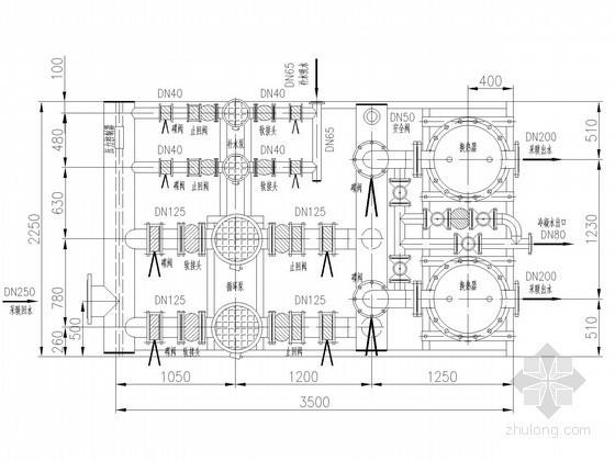 换热站基础采暖供暖系统设计施工图(全面换热)