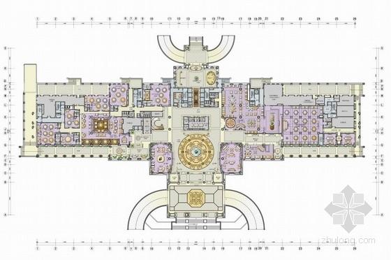 [天津]首家国际化高端连锁品牌奢华超五星级酒店及四大中心设计方案