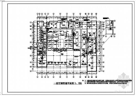 上海某海关办公楼空调设计图