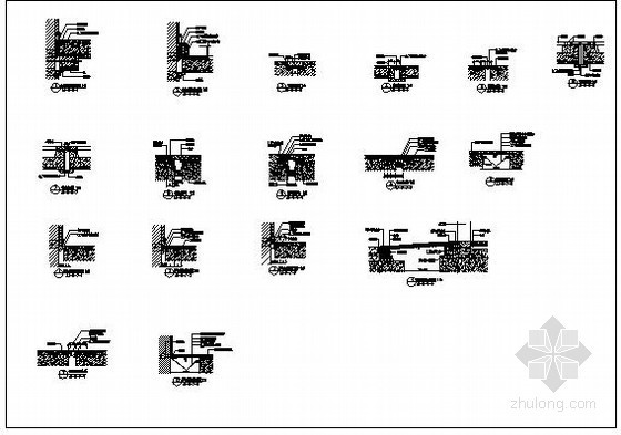 某地面变形缝节点构造详图