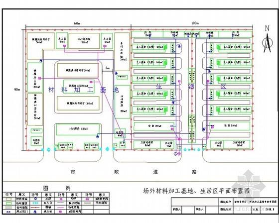 [北京]办公楼施工现场布置方案
