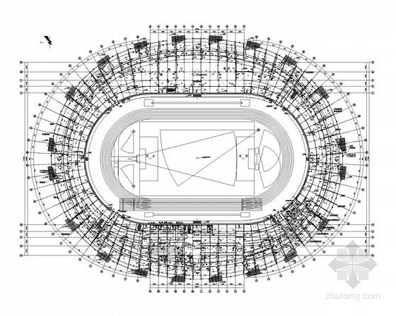 [重庆]体育公园场建筑给排水施工图(气体消防、虹吸排水)