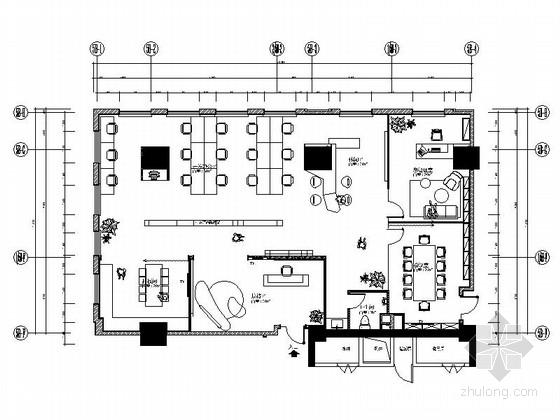 [江苏]新商业中心国际级现代办公空间装修设计施工图