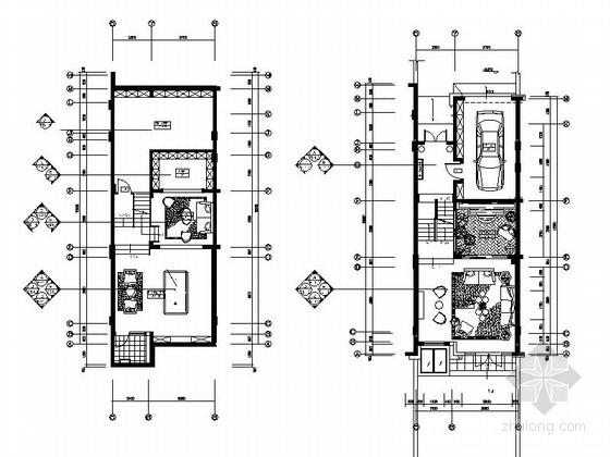 [上海]某新古典欧式三层别墅样板间室内施工图(含效果)