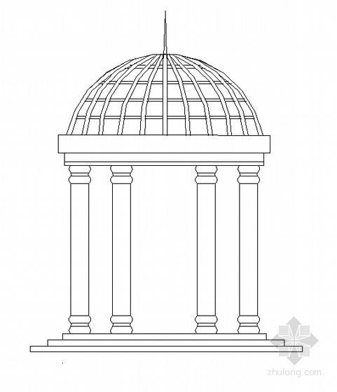 欧式穹形亭施工图