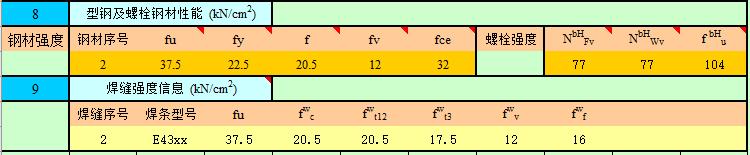 钢结构计算表格-H型钢梁连接节点计算_4