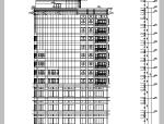 现代高层椭圆形酒店建筑设计施工图CAD