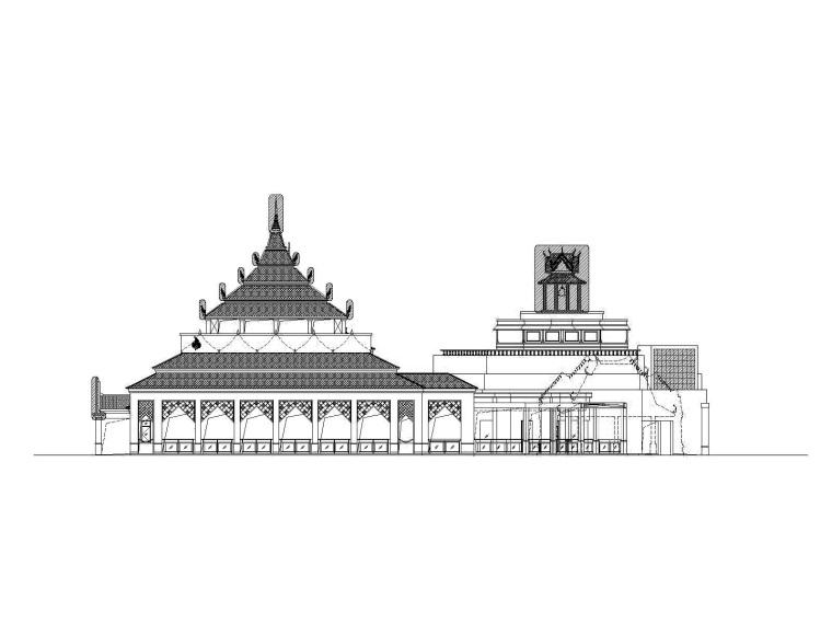 建筑图资料下载-世博会泰国馆建筑施工图
