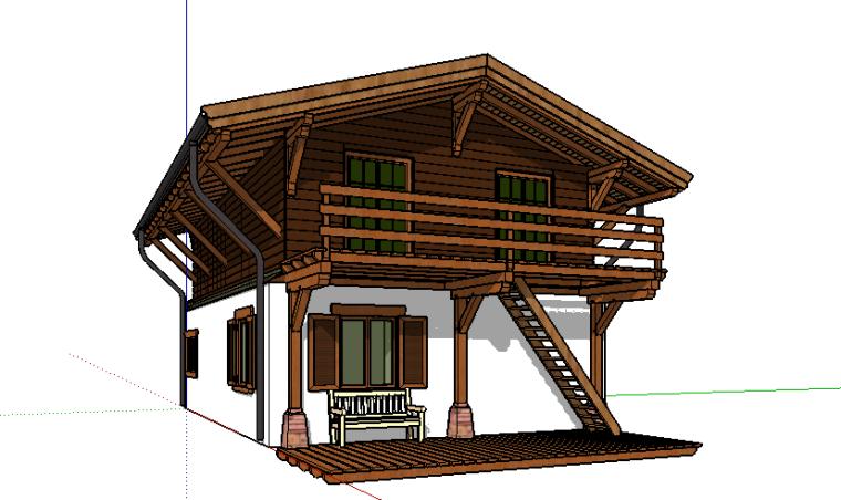 74套树屋·小木屋SU模型51-60