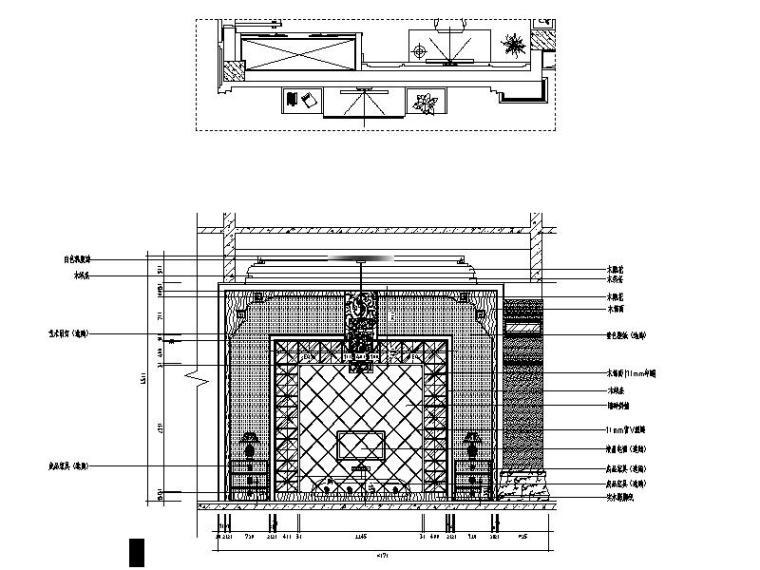 [山西]优雅庄重中式风格别墅室内设计施工图(含效果图)_3