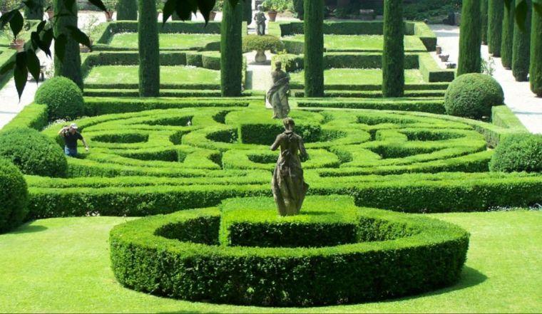 景观绿篱意向图,打造别样绿篱墙