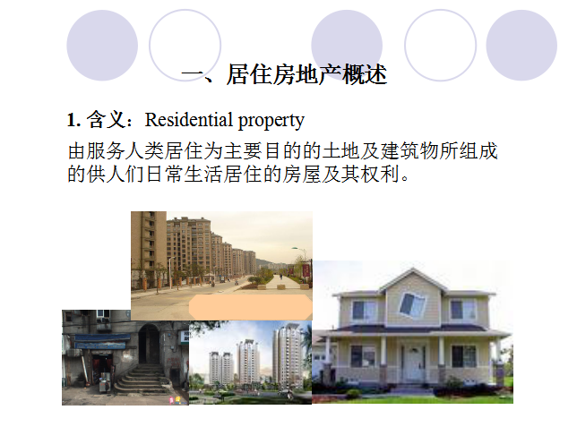 居住房地产概述