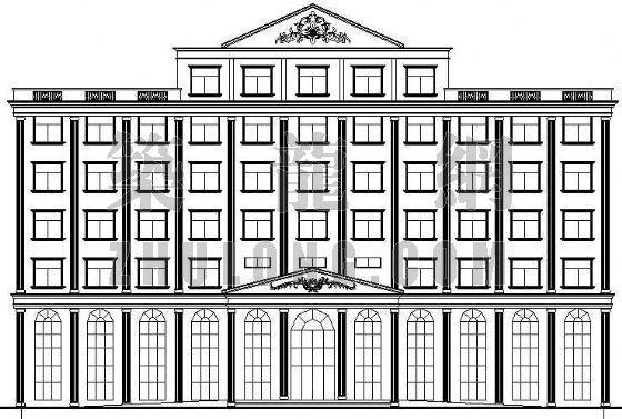 深圳某欧式办公楼建筑设计方案
