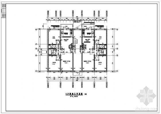 某两室两厅板式住宅端户型平面(90平米以下)