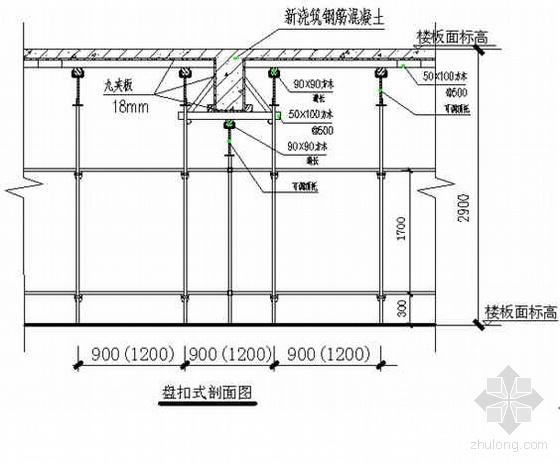 福建省某高层住宅盘扣式模板支撑架施工方案