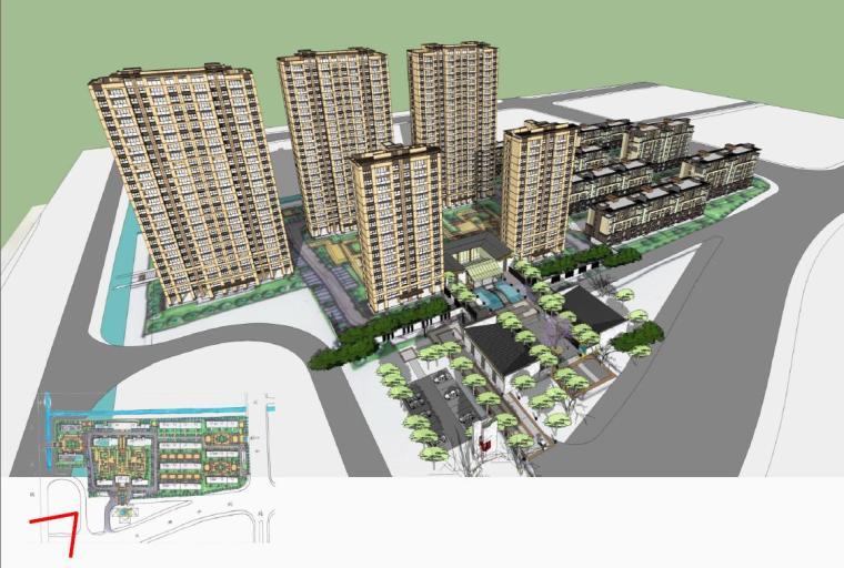 [江苏]高层新中式大屋顶复式住宅楼建筑设计方案文本(16年最新)