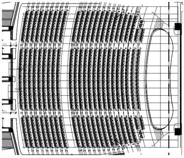 甘肃文化艺术中心场馆观众厅GRG氟碳喷涂满堂架搭设方案(四层钢框架支撑+钢砼框剪结构)_4