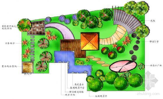 某天台花园景观设计平面方案