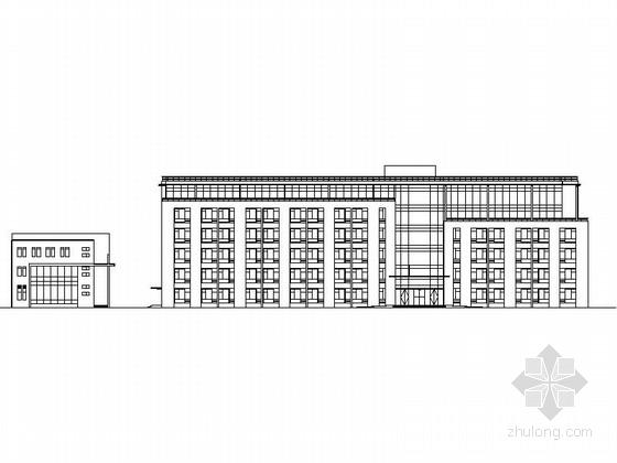 [上海]6层现代风格民航业务用房建筑设计施工图(含效果图)