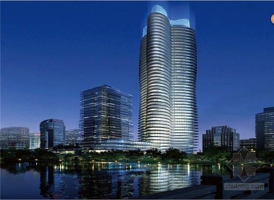 [苏州]超高层弧线形商业办公楼建筑设计方案文本